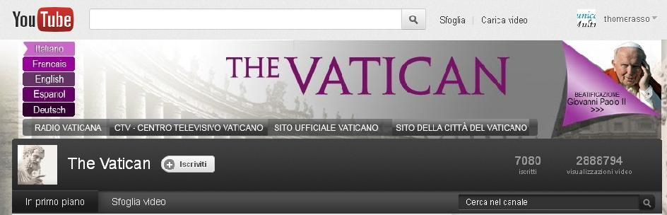The Vatican - Canale Ufficiale YouTube