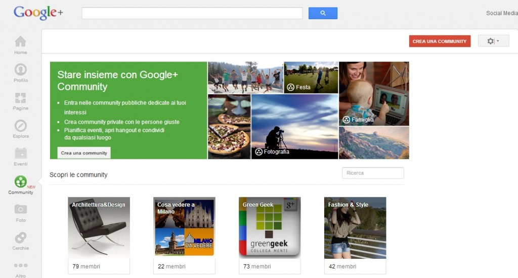 Crea una Community su Google Plus