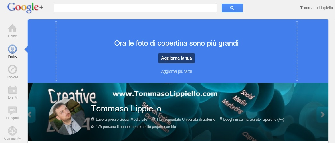 Ingrandimento Copertina Google Plus