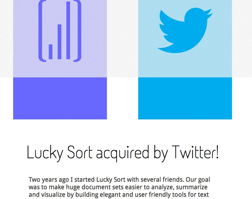 Lucky Sort acquired by twitter