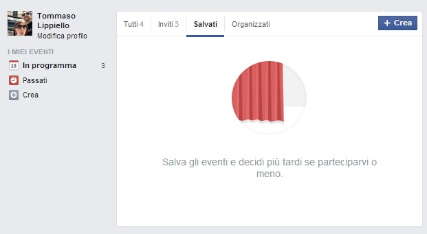 Eventi Salvati Facebook