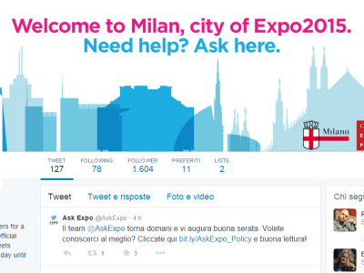 @AskExpo Twitter - Social Info Point Expo Milano 2015