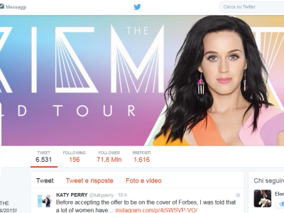 Katy Perry - Account Ufficiale Twitter