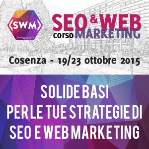 SocialMediaLife.it Media Partner del Corso in SEO e Web Marketing a Cosenza
