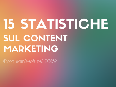 15 statistiche sul content marketing