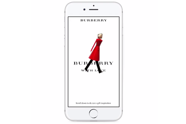 Burberry su Facebook Canvas