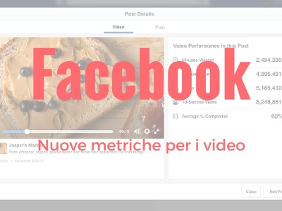 Nuove metriche Facebook Video Insights