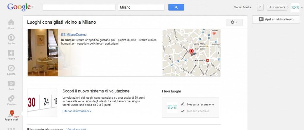 Google Plus lancia il servizio Local