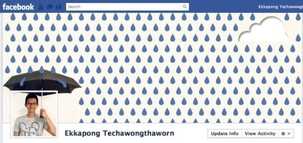 Facebook Timeline creativa con pioggia - Ekkapong Techawongthaworn
