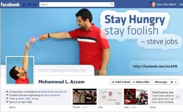 Facebook Timeline creativa di Mohammed Azzam