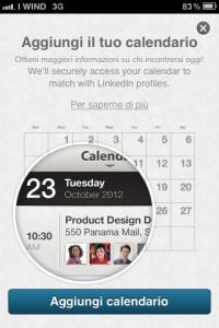 Aggiungi il tuo Calendario - LinkedIn App