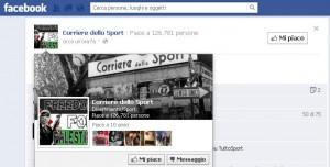 Cambio immagine profilo Corriere dello Sport