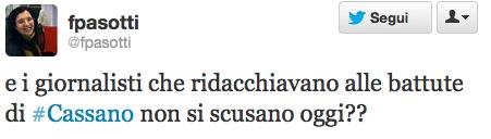 #Cassano e i giornalisti sui gay in nazione