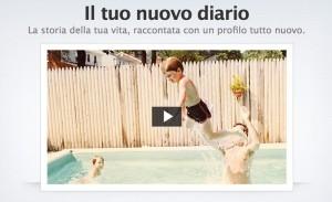 Facebook Video presentazione Il tuo nuovo Diario