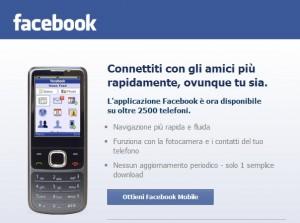 Facebook Applicazione Mobile