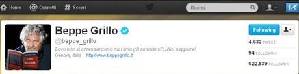 Beppe Grillo su Twitter