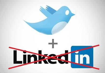 Twitter si separa da LinkedIn