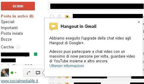 Videoritrovi in Gmail