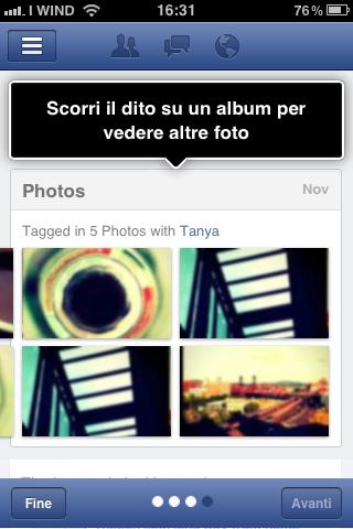 Visualizza foto - Facebook App