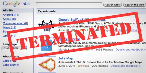 Google chiude Google Lab