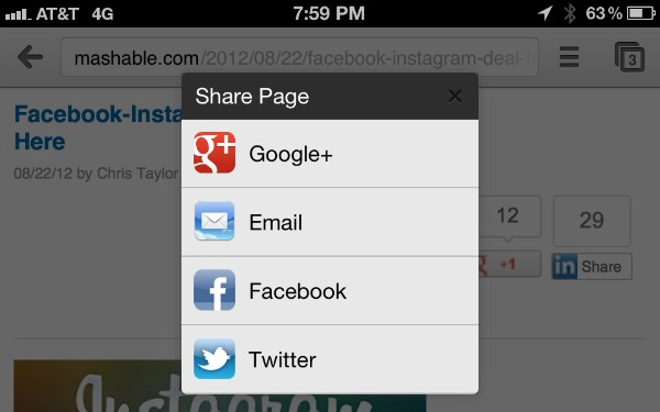 Photo of Nuova implentazione tra i Social e Chrome per iOS