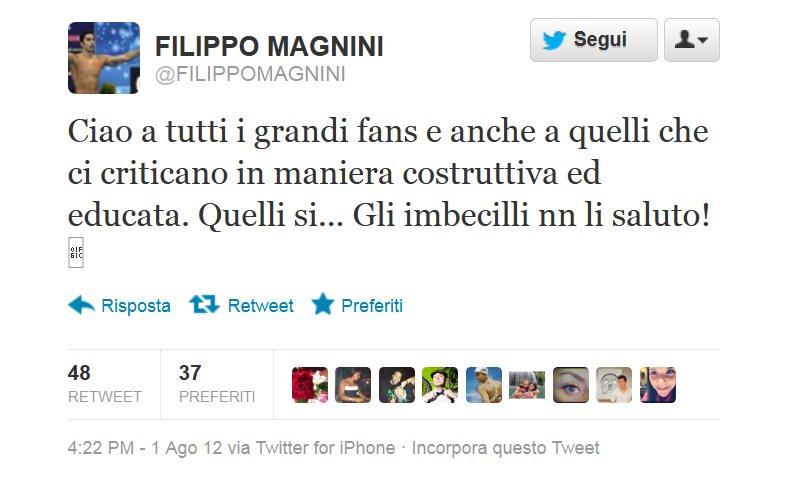 Photo of Olimpiadi e social network: Magnini se ne va da Twitter