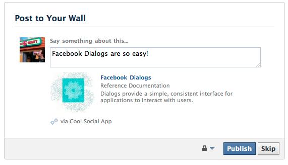 Photo of Facebook Dialogs