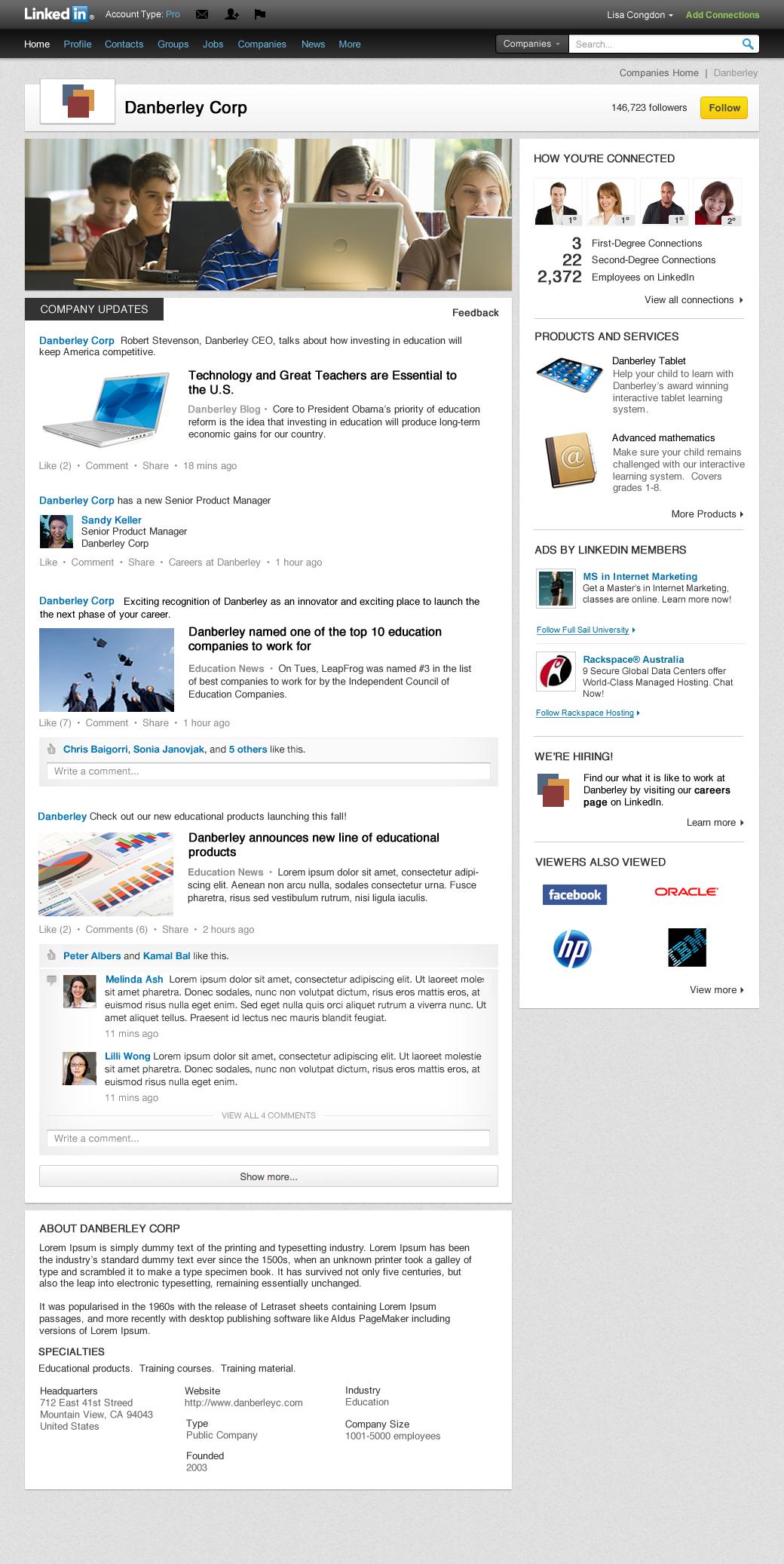 Nuovo design per i profili Aziende su LinkedIn