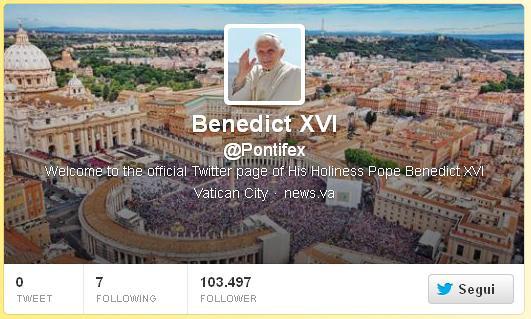 Papa Ratzinger su Twitter