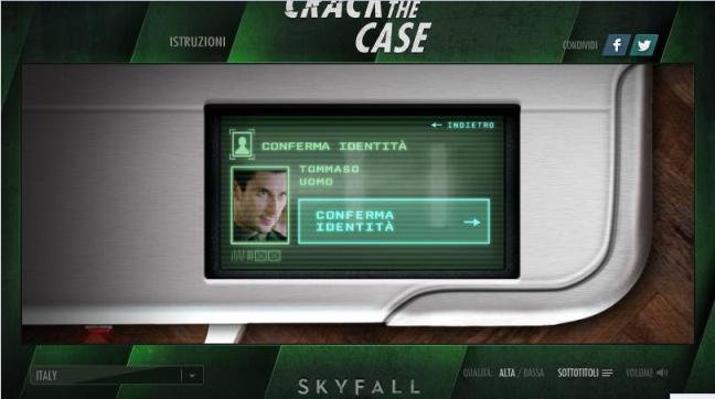 Crash the Case - Conferma Dati utente