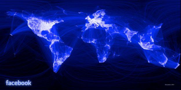 Facebook - Mappa globale dei contatti