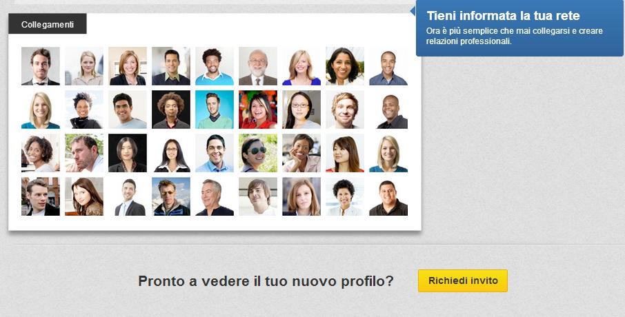 Nuovo Profilo LinkedIn - Scheda Collegamenti