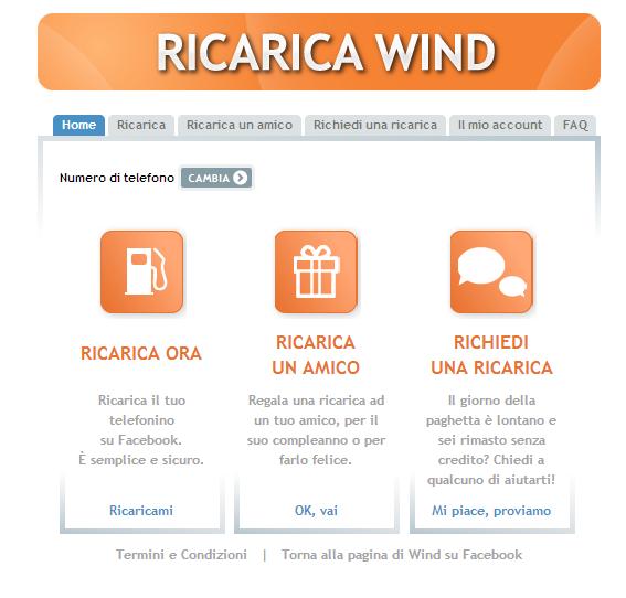 Photo of Gli utenti Wind ora ricaricano da Facebook