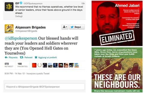Israele minaccia Hamas su Twitter