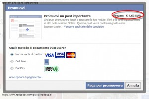 Promuovi Post su Facebook