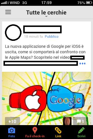 Bacheca Google Plus App