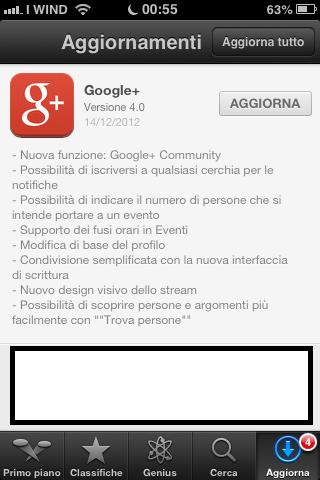 Novità Google Plus App