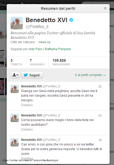 Photo of Il primo tweet del Papa