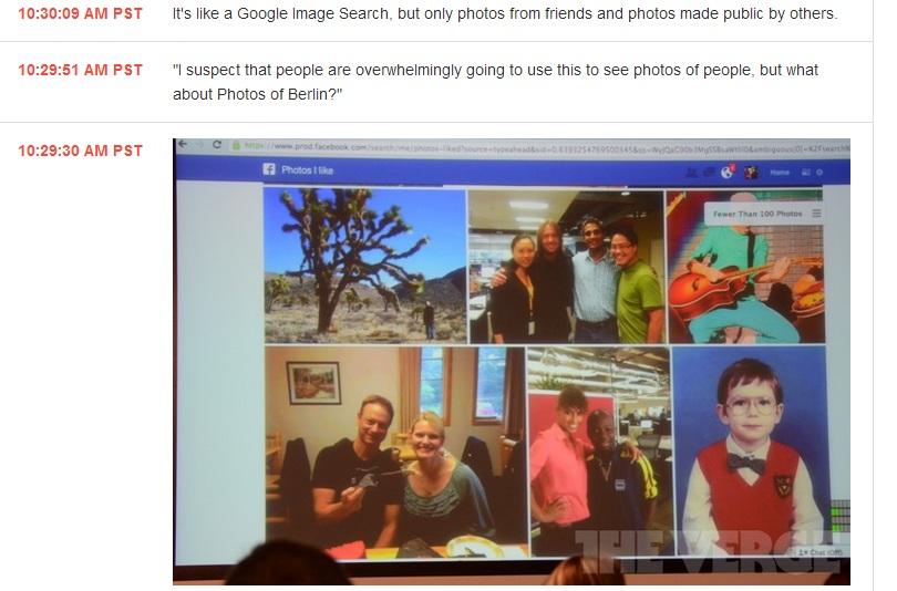 Ricerca delle foto su Amici e foto pubbliche su Facebook