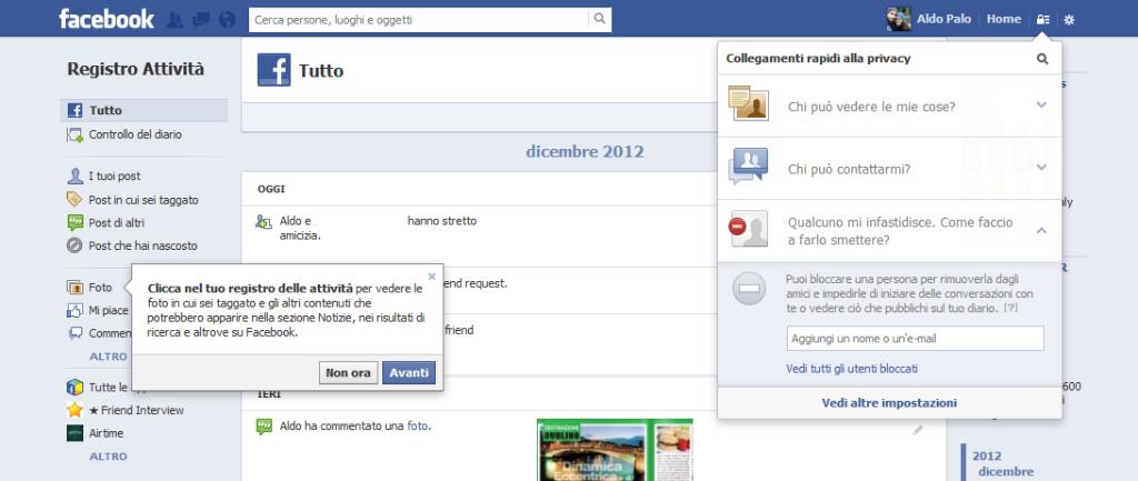 Chi può richiedere la mia amicizia su Facebook