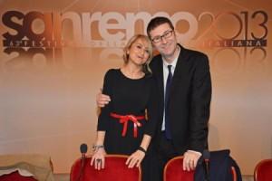 Fabio Fazio e Luciana Littizzetto al Festival di Sanremo