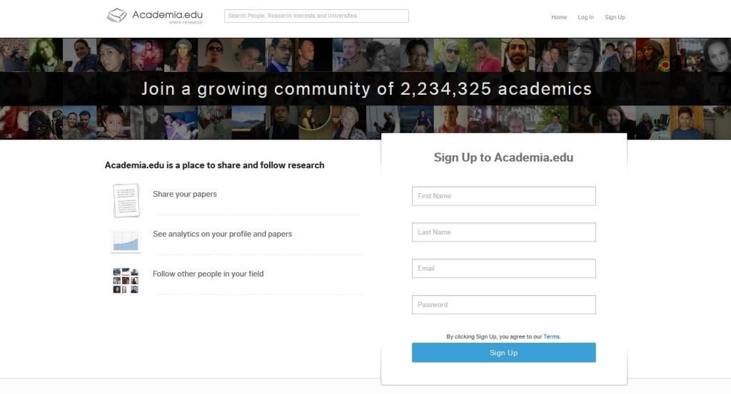 Homepage Academia.edu