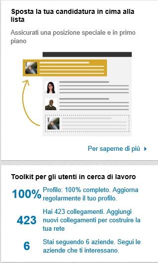 Strumenti Ricerca lavoro LinkedIn