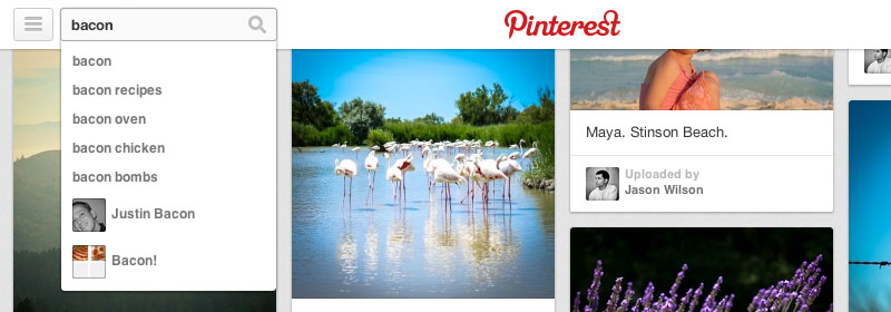 Nuovo layout di Pinterest