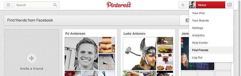 Trova Amici su Pinterest
