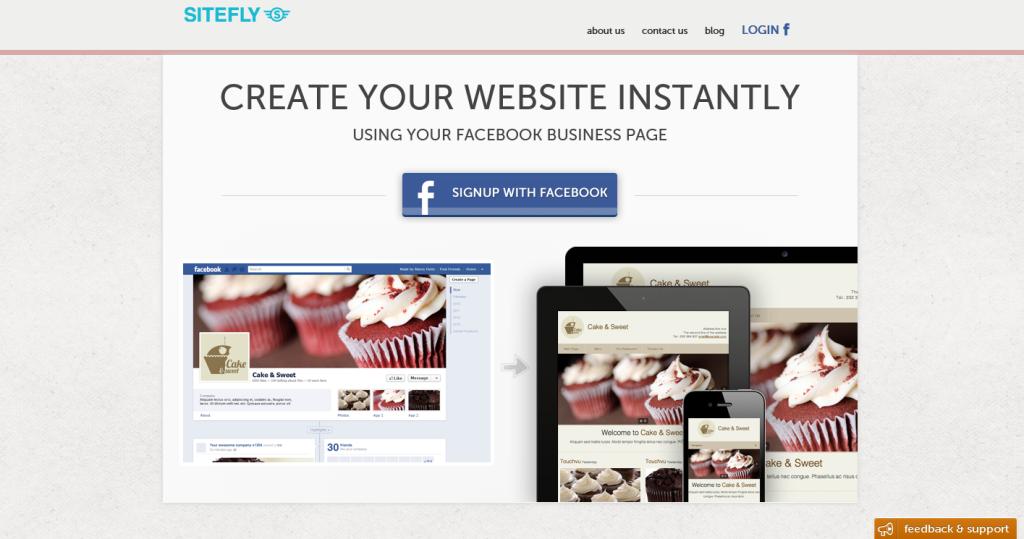 Crea il tuo sito web in un istante con sitefly