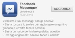 Aggiornamento Facebook Messenger Mobile