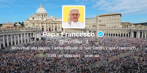 twitter papa francesco