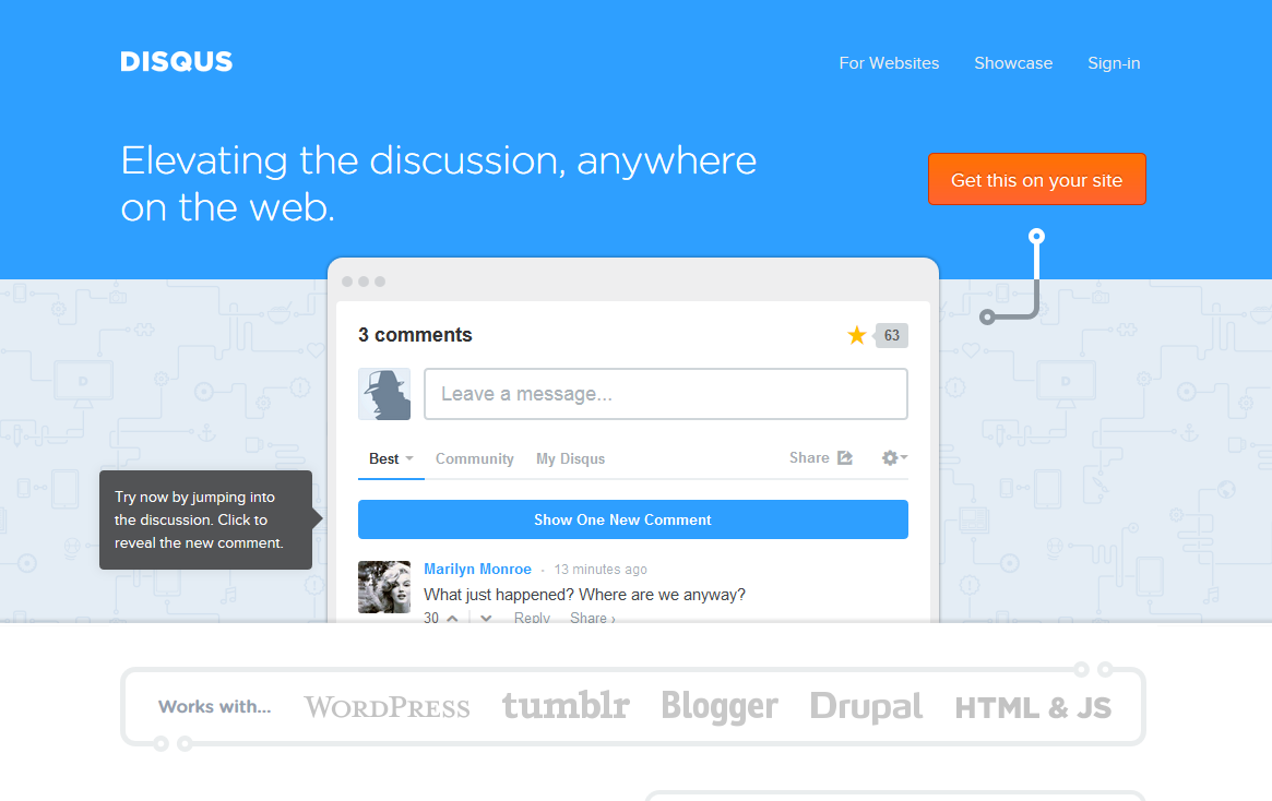 Homepage Disqus