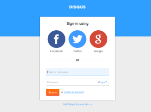 Log in Disqus